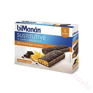 BIMANAN BARRITA CHOCOLATE NEGRO Y NARANJA 40 G 1 U (EXP 24 U)