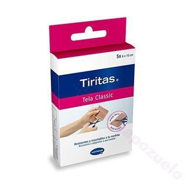 TIRITAS CLASSIC APOSITO ADHESIVO C/ TIJERA 10 CM X 6 CM 5 APOSITOS