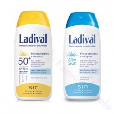 PACK LADIVAL SPF 50 GEL CREMA 200 ML.+ AFTER SUN 200 ML