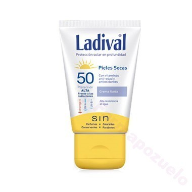 LADIVAL P. SECAS FPS 50+ CREMA FLUIDA 75 ML