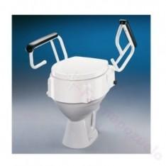 ELEVADOR WC REGULABLE CON REPOSABRAZOS Y TAPA AD510