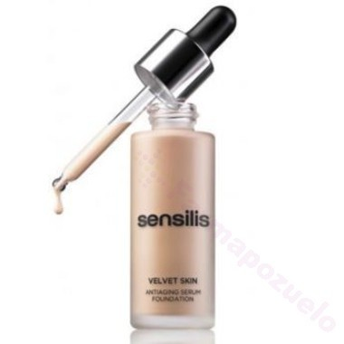 SENSILIS VELVET SKIN ANTIAGING SERUM FOUNDATION 04 NOISETTE