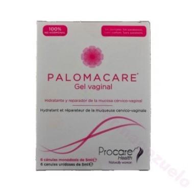 PALOMACARE GEL VAGINAL MONODOSIS 6 CANULAS 5 ML