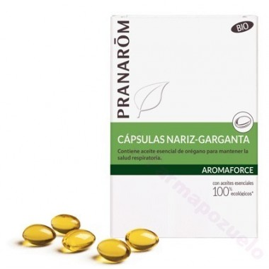 PRANAROM AROMAFORCE NARIZ Y GARGANTA 30 CAPSULAS
