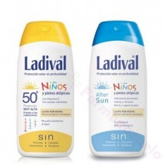 LADIVAL NIÑOS FPS 50 LECHE 200 ML. + AFTER SUN 200 ML.
