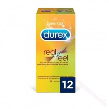 DUREX REAL FEEL PRESERVATIVO SIN LATEX 12 U