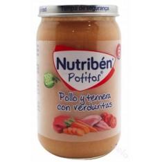 NUTRIBEN POLLO Y TERNERA CON VERDURITAS POTITO 235 G
