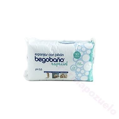 BEGOBAÑO ESPONJA ENJABONADA DESECHABLE 30 ESPONJA